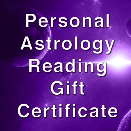 personal reading gift certificate ruling planets